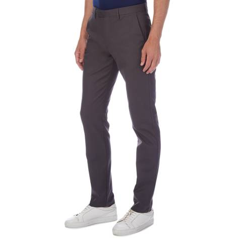 Reiss Charcoal Western Slim Stretch Chinos