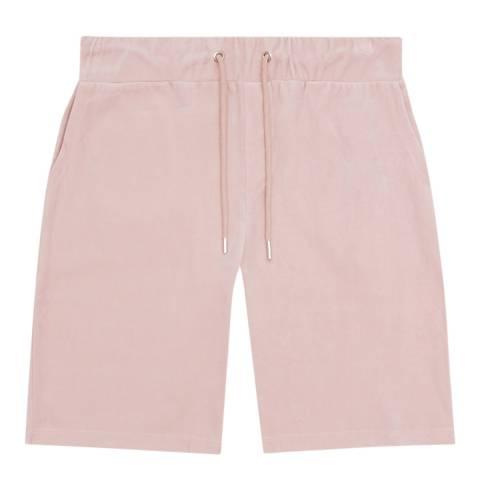 Reiss Soft Pink Justin Cotton Blend Shorts