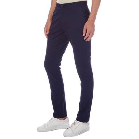 Reiss Navy Felder Slim Stretch Chinos