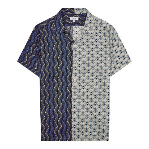 Reiss Blue/Multi Bow Printed Shirt