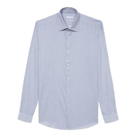 Reiss Blue Ironsky Regular Fit Cotton Shirt