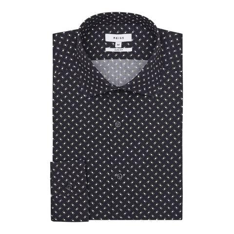 Reiss Midnight Kesler Slim Fit Cotton Shirt