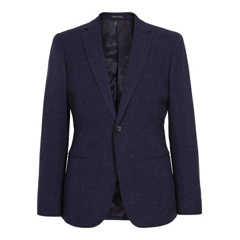 Reiss Navy Fountain Slim Fit Suit Jacket