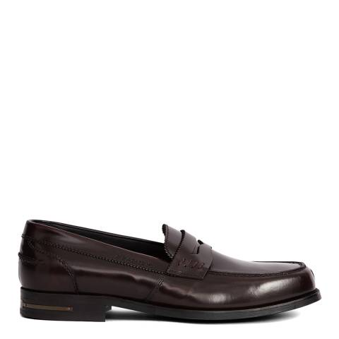 Reiss Bordeaux Anderson Leather Loafers
