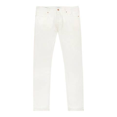 Reiss White Woolcombe Slim Cotton Jeans