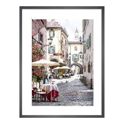 Richard Macneil Cobbled Street Framed Print, 30 x40cm