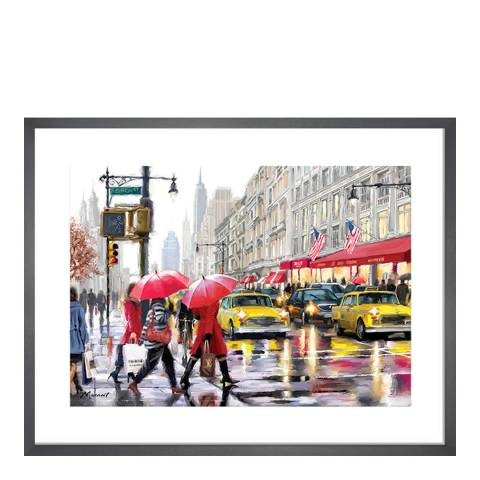 Richard Macneil New York Shoppers Framed Print, 40x50cm