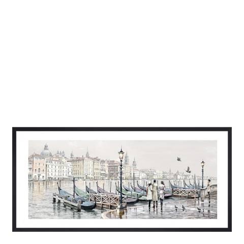 Richard Macneil Quayside, Venice Framed Print, 30x60cm