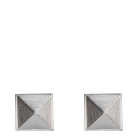 Monomen Men's Silver Pyramid Cufflinks