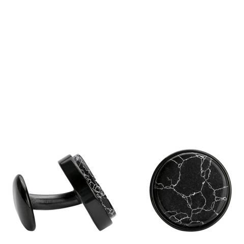 Monomen Men's Black Marble Cufflinks