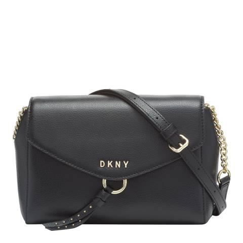 DKNY Black Gold Lola Flap Crossbody