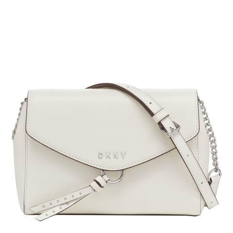 DKNY White Lola Flap Crossbody