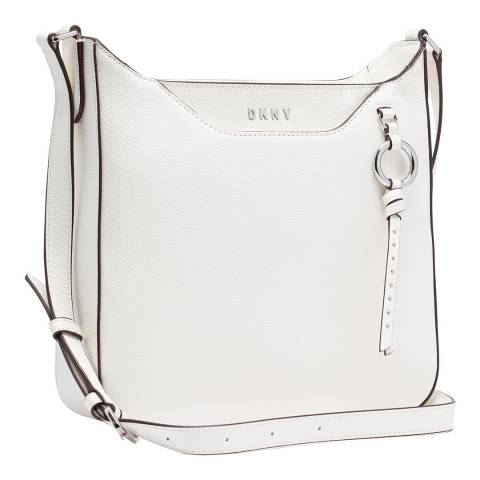 DKNY White Lola Messenger