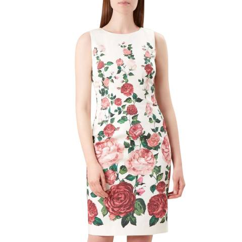 Hobbs London Ivory Floral Victoria Rose Shift Dress