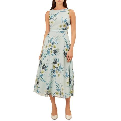 Hobbs London Light Blue Floral Carly Dress