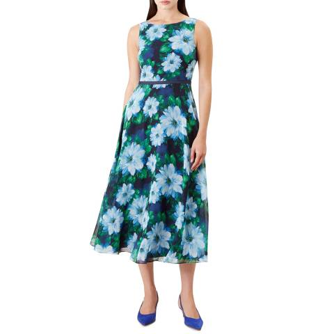 Hobbs London Blue Floral Carly Dress