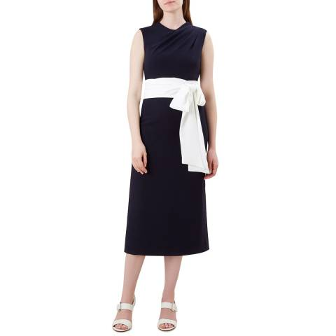 Hobbs London Navy Thao Dress