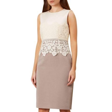 Hobbs London Cream Seraphina Dress