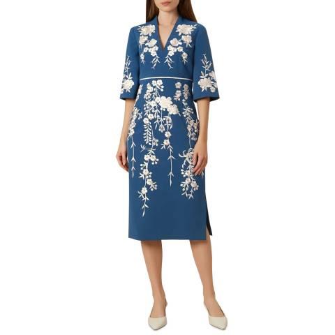 Hobbs London Blue Floral Siobhan Dress