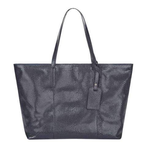 Hobbs London Navy Danby Leather Tote Bag