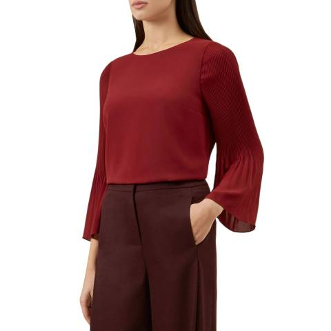 Hobbs London Deep Red Juliana Top