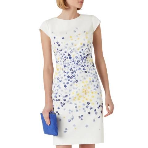 Hobbs London Ivory Floral Fiona Dress