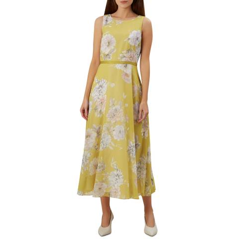 Hobbs London Yellow Floral Carly Dress