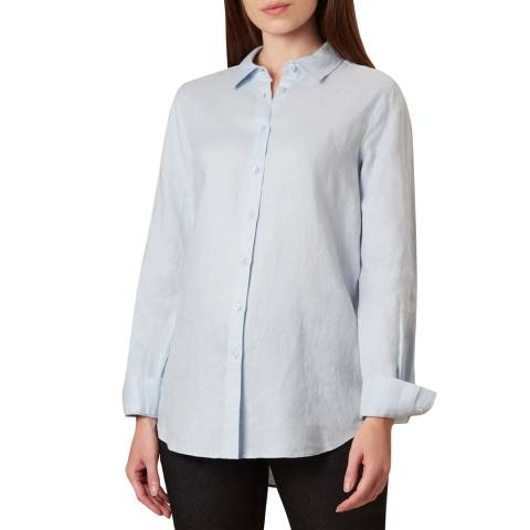 Hobbs London Blue Kristina Linen Shirt