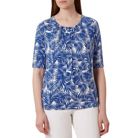 Hobbs London Blue Print Viloa T-Shirt