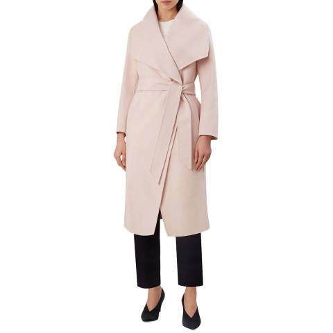Hobbs London Pink Odelia Wool Blend Coat