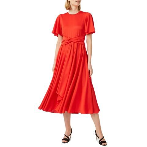 Hobbs London Red Leia Satin Dress