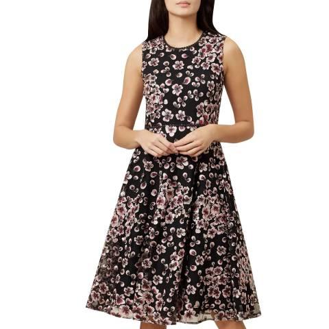 Hobbs London Black Floral Lilith Dress