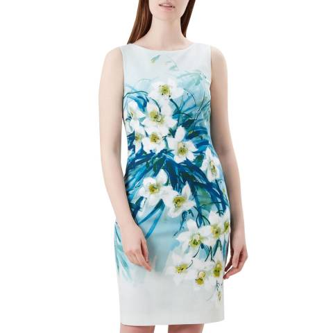 Hobbs London Blue Floral Amelie Dress