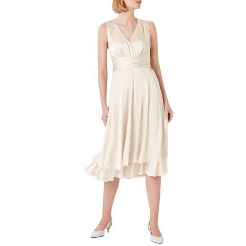 Hobbs London Cream Viola Dress