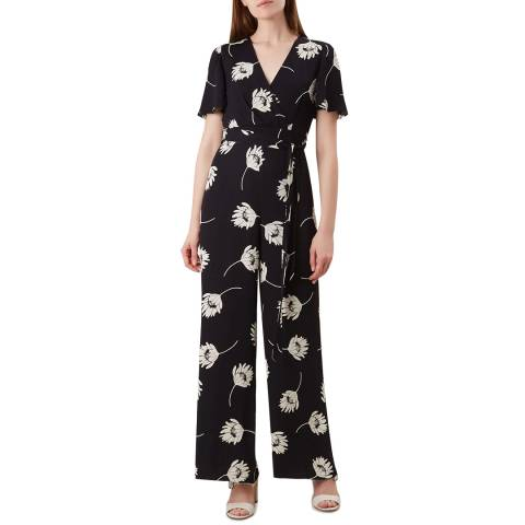 Hobbs London Black Floral Alexis Jumpsuit