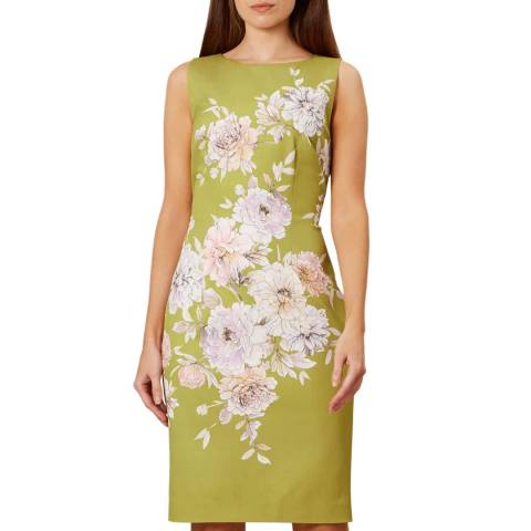 Hobbs London Green Floral Moira Dress