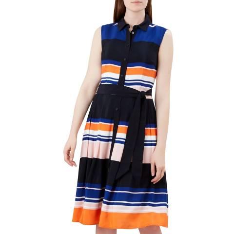 Hobbs London Multi Stripe Ethel Dress