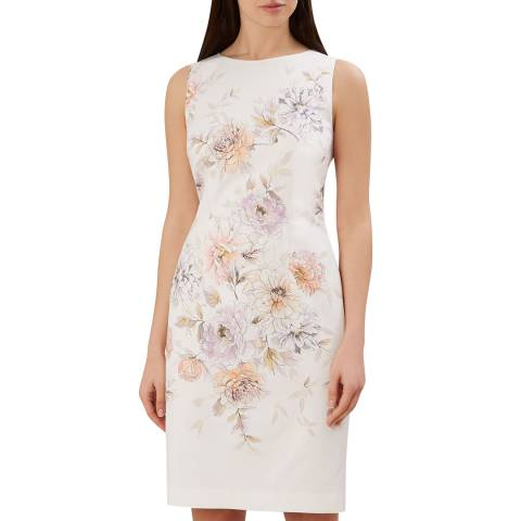 Hobbs London Ivory Floral Moira Dress