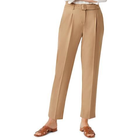 Hobbs London Tan Harrietta Wool Blend Trousers