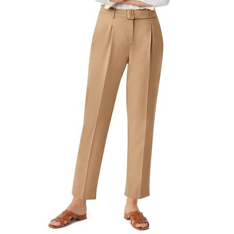Hobbs London Beige Harrietta Wool Blend Trousers
