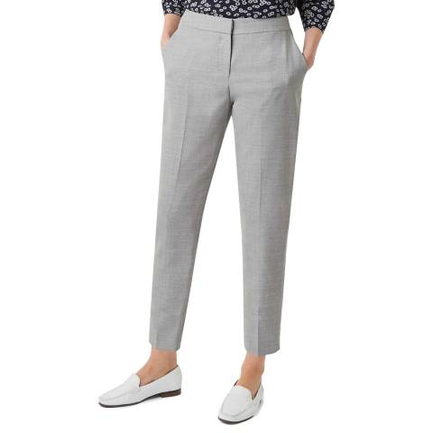 Hobbs London Grey Aneta Wool Trousers