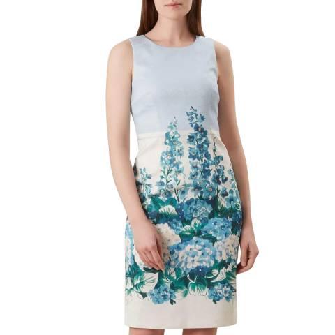 Hobbs London Blue Hydrangea Shift Dress
