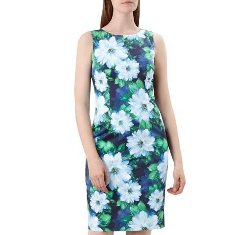 Hobbs London Blue Floral Fiona Dress