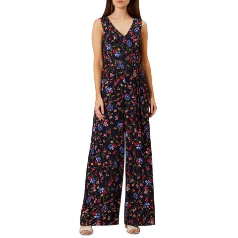 Hobbs London Navy Floral Laura Jumpsuit