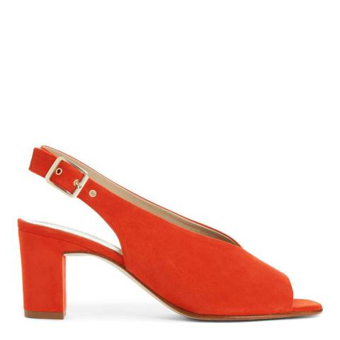 Hobbs London Orange Red Kali Sandals