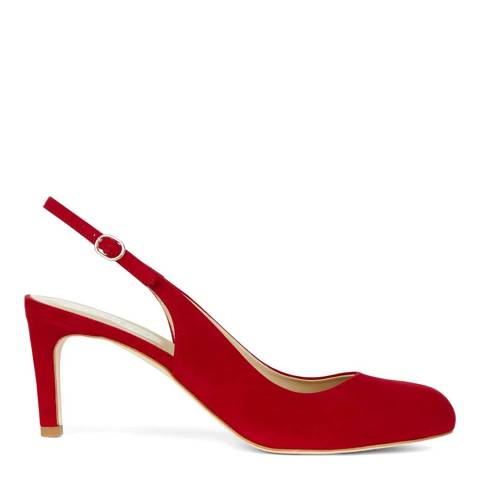 Hobbs London Scarlet Red Sophia Slingback Heeled Shoes