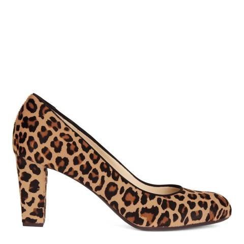 Hobbs London Leopard Sonia Court Heeled Shoes