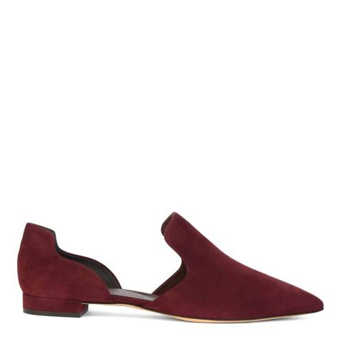 Hobbs London Mulberry Lucinda Suede Flats