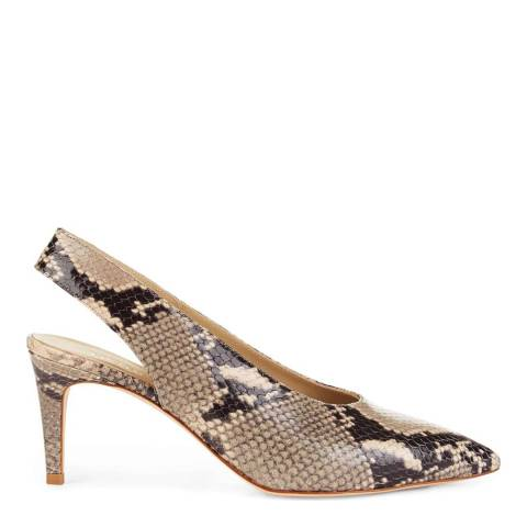 Hobbs London Snake Grace Slingback Heeled Shoes
