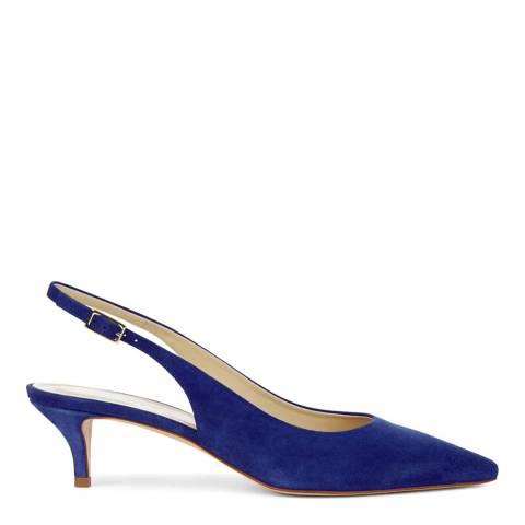 Hobbs London Iris Blue Annie Slingback Heeled Shoes
